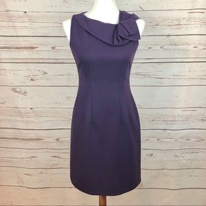 Elie Tahari Pleated Origami Wool Sheath Dress
